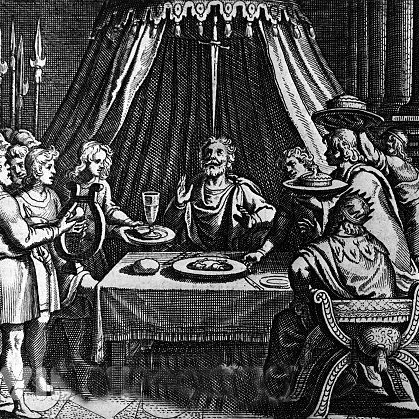 Woodcut-image-of-the-Sword-of-Damocles