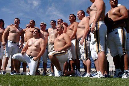 Shirtless-football-players