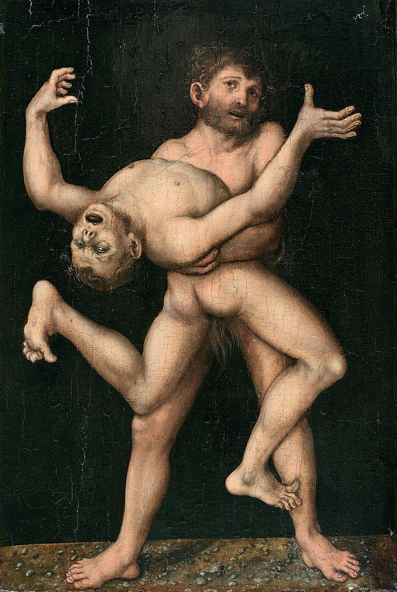 Lucas-cranach-the-elder-german-1472-1553-hercules-and-antaeus